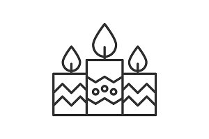 Church candles linear icon