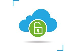 Cloud storage access granted icon