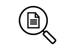 Document search linear icon