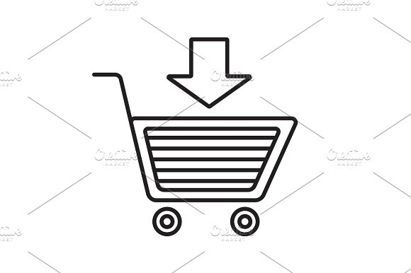 Add To Cart Linear Icon