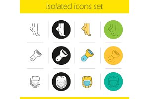 Spa salon icons set