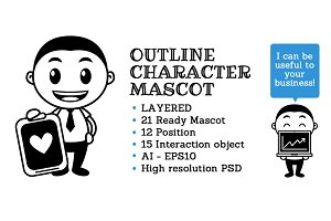 Outline Character Mascot