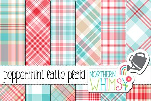 Red, Pink, & Aqua Blue Plaid