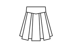 Skirt linear icon
