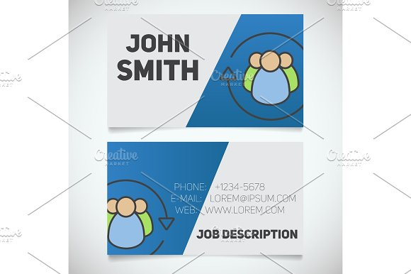 Business card print template with staff turnover logo in Product Mockups