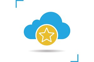 Bookmark cloud storage icon