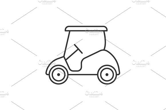 Golf Cart Linear Icon