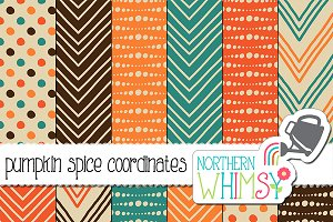 Orange, Brown & Teal Geometric