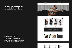 SELECTED- ecommerce PSD template