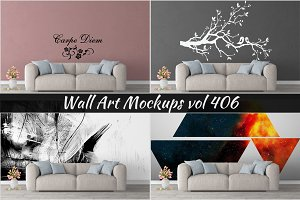 Wall Mockup - Sticker Mockup Vol 406