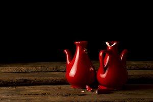 Jars symbolizing broken hearts