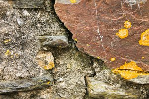 Stone Wall Rustic Detail