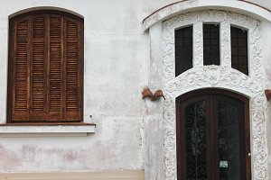 Rustic Facade Door and Window Detail