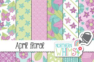 April Floral Patterns