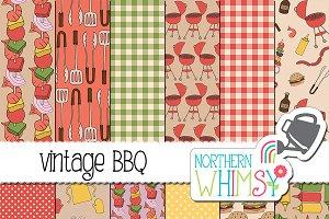 Summer BBQ Patterns - Vintage Colors