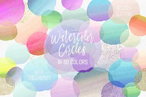 Watercolor Circles Paint Strokes