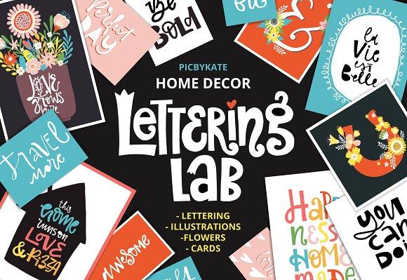 Stock Graphic Home Decor Lettering Lab Designtube Creative Design Content