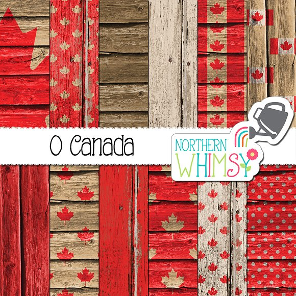 Canada Day Wood Textures