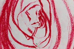 Abstract Swirl in Pink