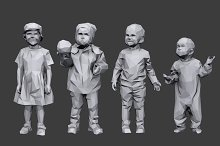 Lowpoly Children Pack by  in Characters