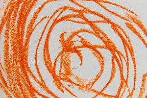 Abstract Swirl in Orange