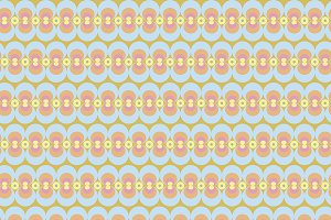 Circles pattern in pastel colors
