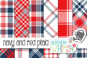Red and Navy Plaid Patterns