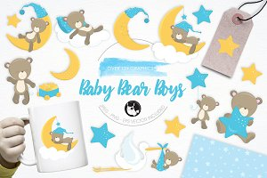 Baby Bear Boys  illustration pack