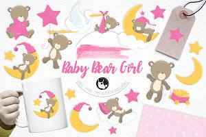 Baby Bear Girl illustration pack