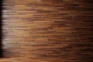 illustration render natural interior with wood wall panels