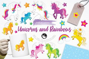 Unicorns and Rainbows illustrations