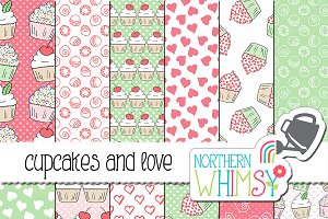 Cupcake Seamless Patterns