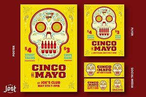 Cinco De Mayo Poster, Flyer, Social