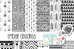 Tribal Doodles - Black & White