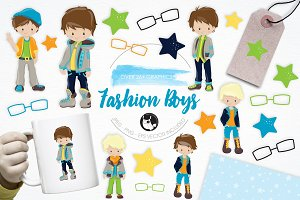 Fashion Boys illustration pack