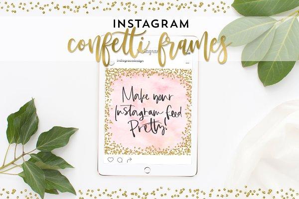 Instagram Confetti Frames + BONUS