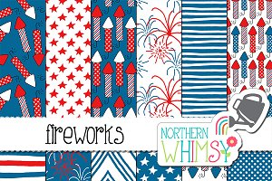 Fourth of July Patterns - Fireworks