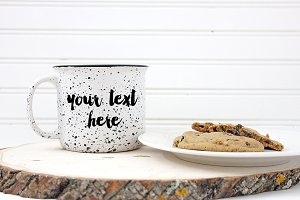 Camp mug product mock up coffee mug
