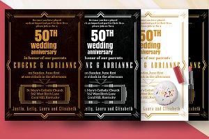 Golden Anniversary Wedding Card