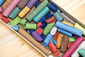 Dry pastels set of crayons