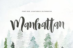 Manhattan Script (2 fonts)