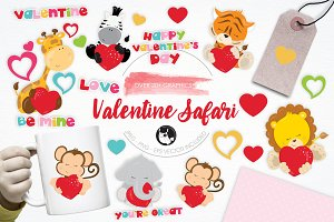 Valentine Safari illustration pack