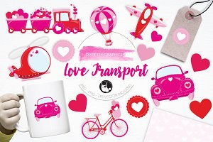 Love Transport illustration pack