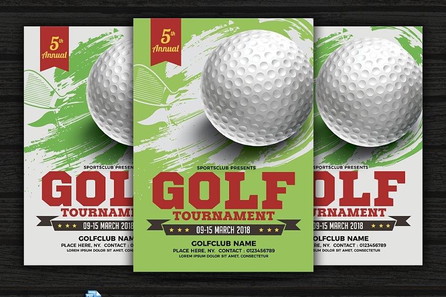 Golf Tournament Flyer Template Flyer Templates Creative Market Pro