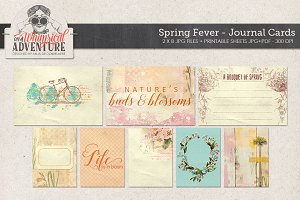 Spring Fever Journal Cards