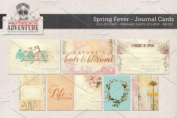 Spring Fever Journal Cards