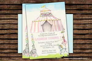 DIY Circus Printable Invitation