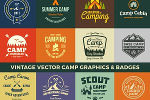 Vintage Vector Camp Graphics