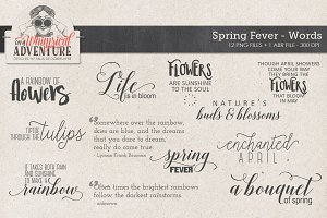 Spring Fever Word Art