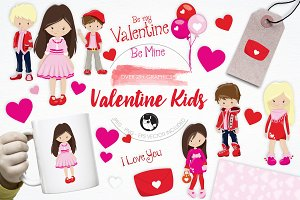 Valentine Kids illustration pack